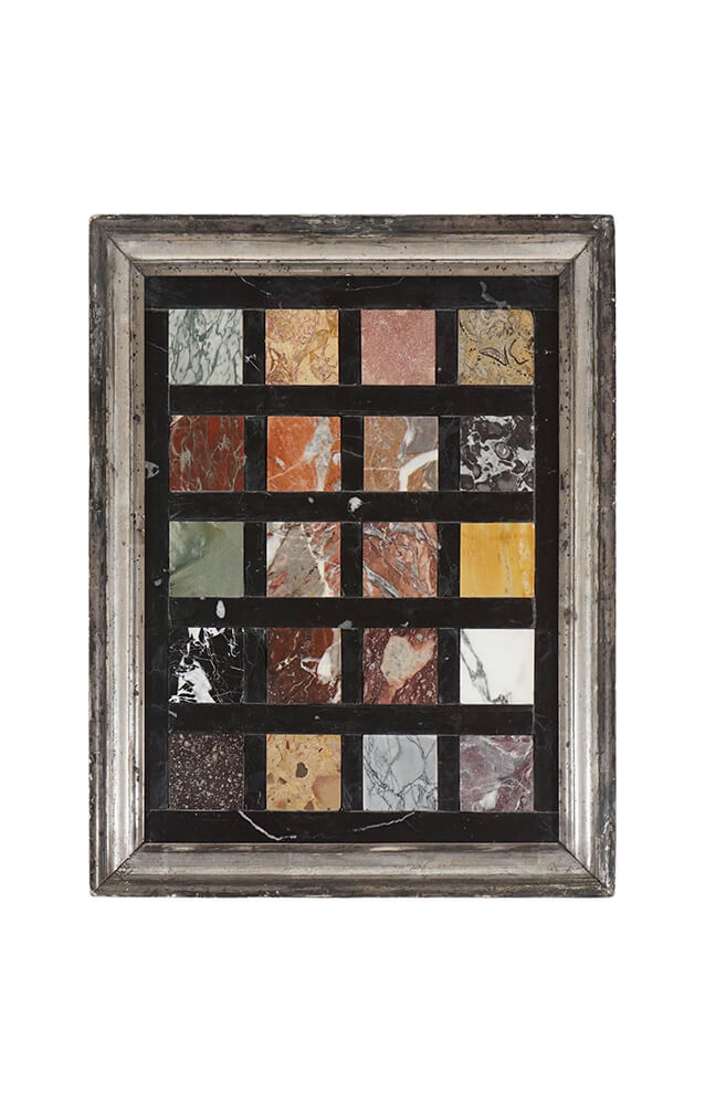 Grand Tour Pietra Dura Specimen Marbles Framed Plaque